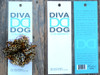 Cheetah flower for dog collars in packaging by www.diva-dog.com