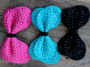 Butterfly studded bow for dog collars in pink, blue and black by www.diva-dog.com