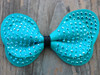 Butterfly studded blue bow for dog collars by www.diva-dog.com