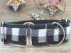 Buffalo Plaid Glacier White martingale collar by www.diva-dog.com