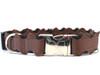 Brick-A-Bark brown dog collar - by Diva-Dog.com