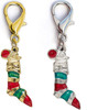 Christmas Stocking dog collar charm. Available in gold or silver by www.diva-dog.com