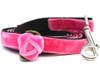 Rosebud Pink Velvet Dog Leash - by Diva-Dog.com