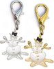 Snowman Shimmer dog collar charm. Available in gold or silver by www.diva-dog.com