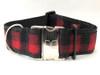 Buffalo Plaid Sierra Red extra wide collar by www.diva-dog.com