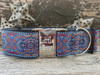 Kashmir Egyptian Sunset custom engraved extra wide dog collar  - by www.diva-dog.com