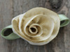 Champagne Rose flower for dog collars by www.diva-dog.com
