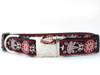 Carnelian Red dog collar by www.diva-dog.com