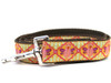 Queen Bee dog leash shown in pink lemonade color by www.diva-dog.com