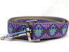 Queen Bee dog leash shown in Blueberry Pie color by www.diva-dog.com