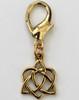 Celtic gold heart dog collar charm by www.diva-dog.com
