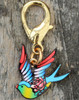 Swallow and Rose dog collar charm by www.diva-dog.com
