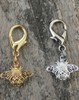 Busy Bee gold and silver dog collar charm by www.diva-dog.com