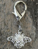 Busy Bee silver dog collar charm by www.diva-dog.com