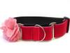 Christie pink velvet martingale dog collar by www.diva-dog.com