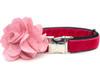 Christie pink velvet dog collar by www.diva-dog.com