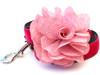 Christie pink velvet dog leash by www.diva-dog.com