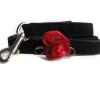 Carnation Red Dog Leash - by Diva-Dog.com