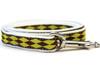 Harlequin Green Dog Leash - by Diva-Dog.com