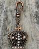 Gothic Crown Dog Collar Charm - by Diva-Dog.com