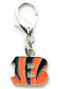 Cincinnati Bengals Logo Dog Collar Charm - by Diva-Dog.com