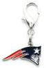 New England Patriots Logo dog collar Charm - by Diva-Dog.com