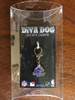 Boise State University Broncos dog collar charm in packaging by diva-dog.com