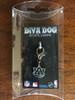 Auburn University Tigers dog collar charm in packaging by diva-dog.com