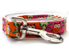 H'Owl Dog Leash - by Diva-Dog.com in Pumpkin and Pink color combo.