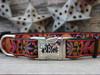 Venice dog collar with custom engraved buckle