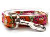 H'Owl Pumpkin and Pink Dog Leash - by Diva-Dog.com