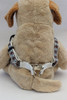 Harlequin Blue Step-In Harness - by Diva-Dog.com  - Rear View
