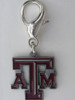 Texas A & M Aggies dog collar Charm - by Diva-Dog.com