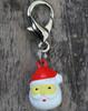 Jingle Santa dog collar Charm - by Diva-Dog.com