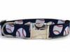Baseball dog Collar - by Diva-Dog.com