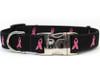 Black Breast Cancer awareness Collar - by Diva-Dog.com