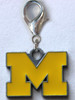Michigan Wolverines dog collar Charm - by Diva-Dog.com