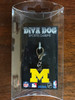Michigan Wolverines dog collar Charm in packaging - by Diva-Dog.com