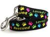 Rescue Me dog Leash - by Diva-Dog.com