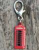 English Red Telephone Box Dog Collar Charm
