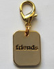 Friends Gold Collar Charm - by Diva-Dog.com
