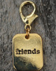 Friends Gold Dog Collar Charm - by Diva-Dog.com