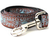 Calligraphy Dog Leash - by Diva-Dog.com Brown