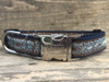 Calligraphy dog collar with custom engraved buckle