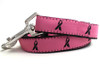 Breast Cancer Awareness dog leash shown in pink - by Diva-Dog.com