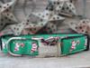 Candy Cane Santa dog collar with black - by Diva-Dog.com