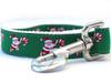 Candy Cane Santa dog leash - by Diva-Dog.com