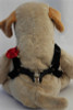 Carnation red step-in Harness - by Diva-Dog.com  - rear view