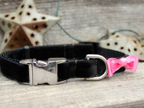 Bowtie Pink Collar - by Diva-Dog.com