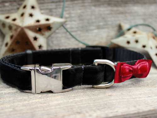 Bowtie Red Collar - by Diva-Dog.com